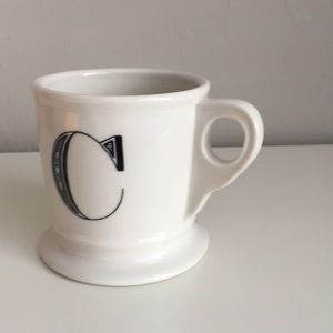 Anthropology C initial coffee cup